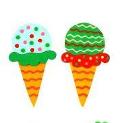 Аппликация 3D Мороженое 2 шт.