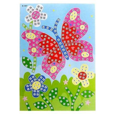 Мозаика стикерная Бабочка голографическая