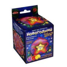 Новогодний шар пайетками с мини-открыткой Звезда