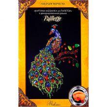 Мозаика из пайеток Павлин