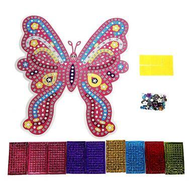 Мозаика стикерная с фигурным основанием Бабочка, голографическая