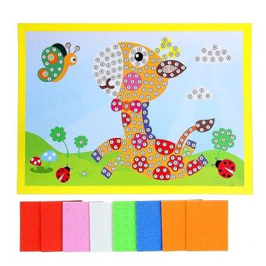 Мозаика стикерная Жирафик, круглые элементы