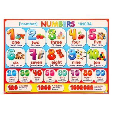 Плакат Numbers числа