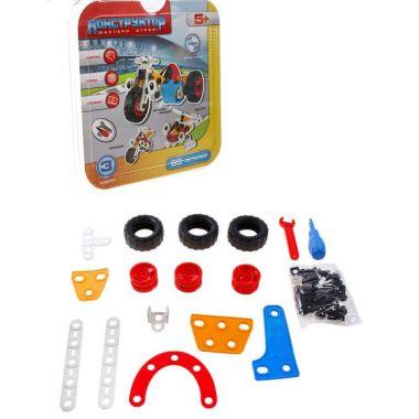 Конструктор для малышей Транспорт, 3 варианта сборки. 65 деталей