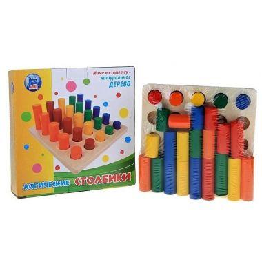 Головоломка Столбики логические, 25 цветных фигур
