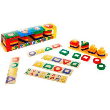 Игрушка Цветные столбики