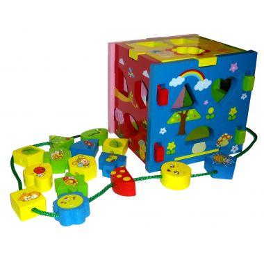 Куб-сортер, шнуровка, рамка вкладыш