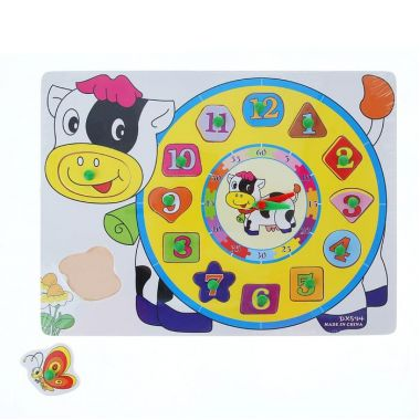 Рамка фкладыш часы - фигуры, цифры, цвет