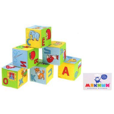 Набор развивающих мягких кубиков Азбука в картинках, 6 штук