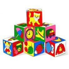 Набор развивающих мягких кубиков Предметы