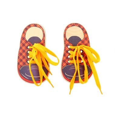 Шнуровка Ботинки шотландка