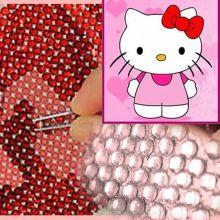 Алмазная вышивка Китти (стразами 15х20)