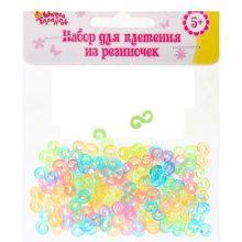 Крепления для плетения резиночками, набор 100 шт., цветные