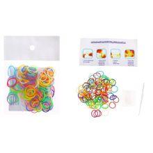 Набор для плетения браслетов из резиночек (110 шт, крючок, 6 креплений)