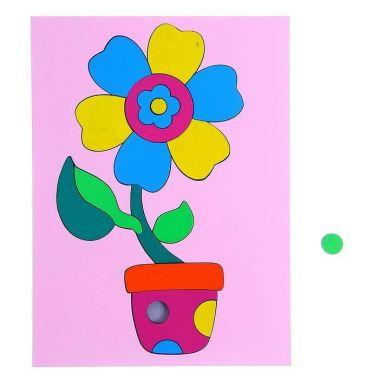 Головоломка Собери картинку цветочек, 18 элементов