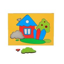 Головоломка Собери картинку домик, 18 элементов