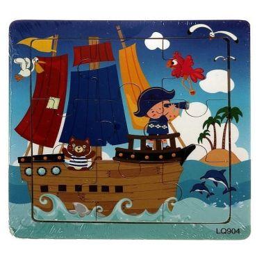 Пазл малый квадратный Пиратский корабль, 9 элементов