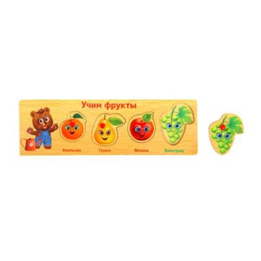 Рамка-вкладыш Учим фрукты