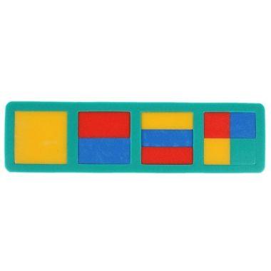 Мягкая мозаика с геометрическими фигурами