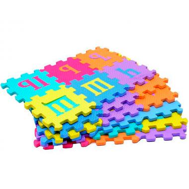 Мягкий напольный большой коврик-пазл алфавит
