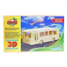 Конструктор деревянный 3D Автобус