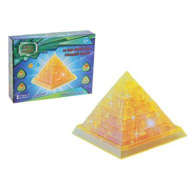 Пирамида, 38 деталей, световой эффект, цвета МИКС, работает от батареек
