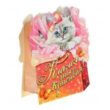 Пакет-открытка Котенок
